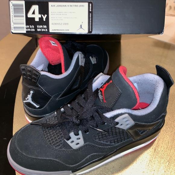 Air Jordan Retro 4 Size 4 Youth | Poshmark